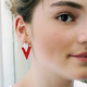Photo Boucle d'oreille Triangle Rouge
